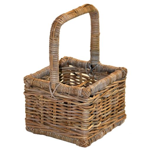 05/119G Grey Rattan 4 Bottle Carrier