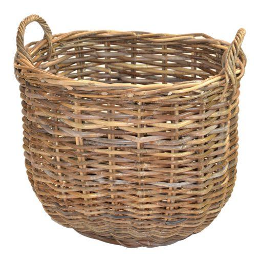 10/086XSG Extra Small Grey Oval Chunky Log Basket