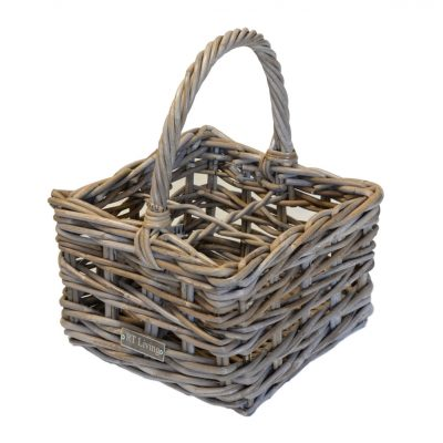 05-615401L Grey Rattan 4 Bottle Carrier