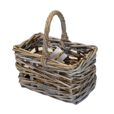 05/61601S Grey Rattan 2 Bottle Carrier