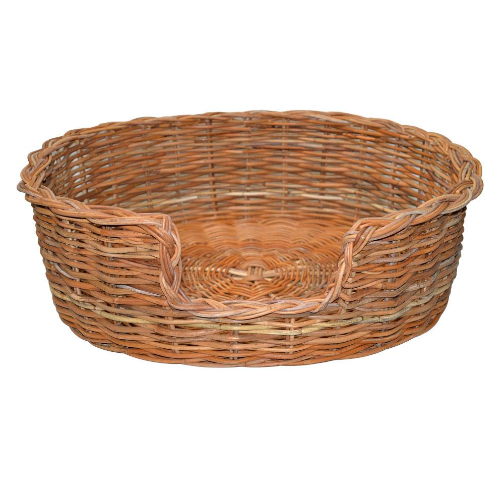 09/104 Large Rattan Dog Basket