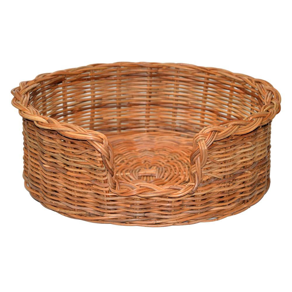 09/104 Medium Rattan Dog Basket