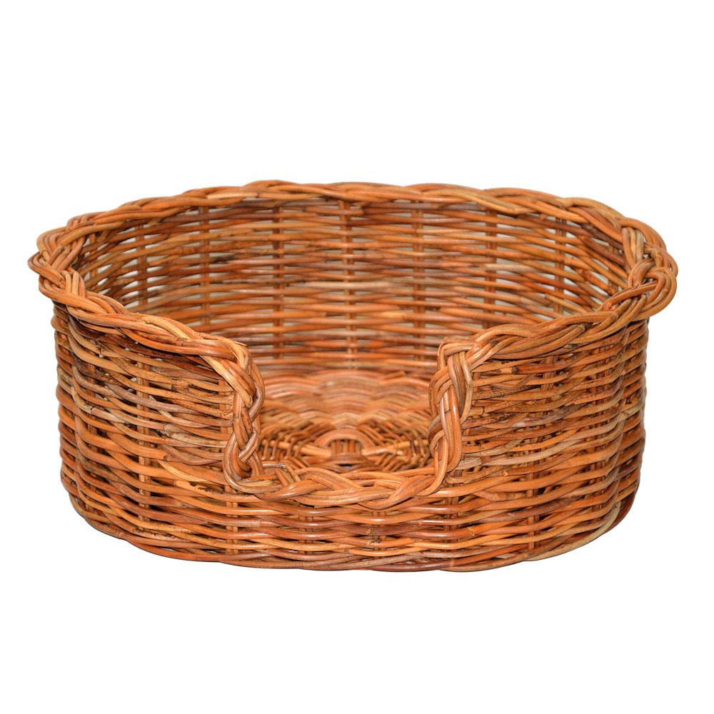 09/104 Small Rattan Dog Basket