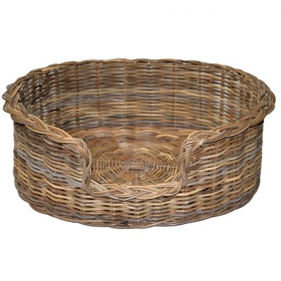 09/104GL Large Grey Oval Dog Basket