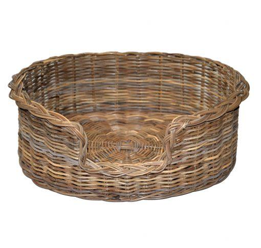 09/104GL Large Grey Oval Dog Basket