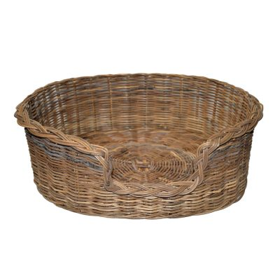 09/104GXL Extra Large Grey Oval Dog Basket