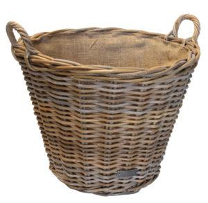 10/6012 Round Grey Lined Log Basket