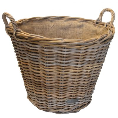 10/6012 Round Grey Lined Log Basket