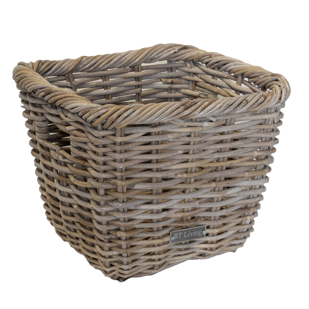 11/61368 Grey Lombok Square Storage Basket