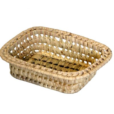 03/RIM Oblong Rimmed Palm Storage Basket