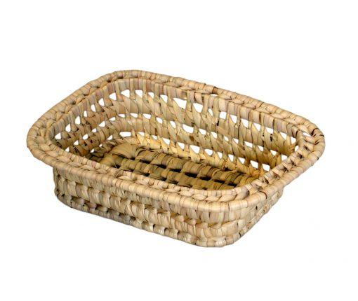 03/RIM Oblong Rimmed Palm Storage Basket