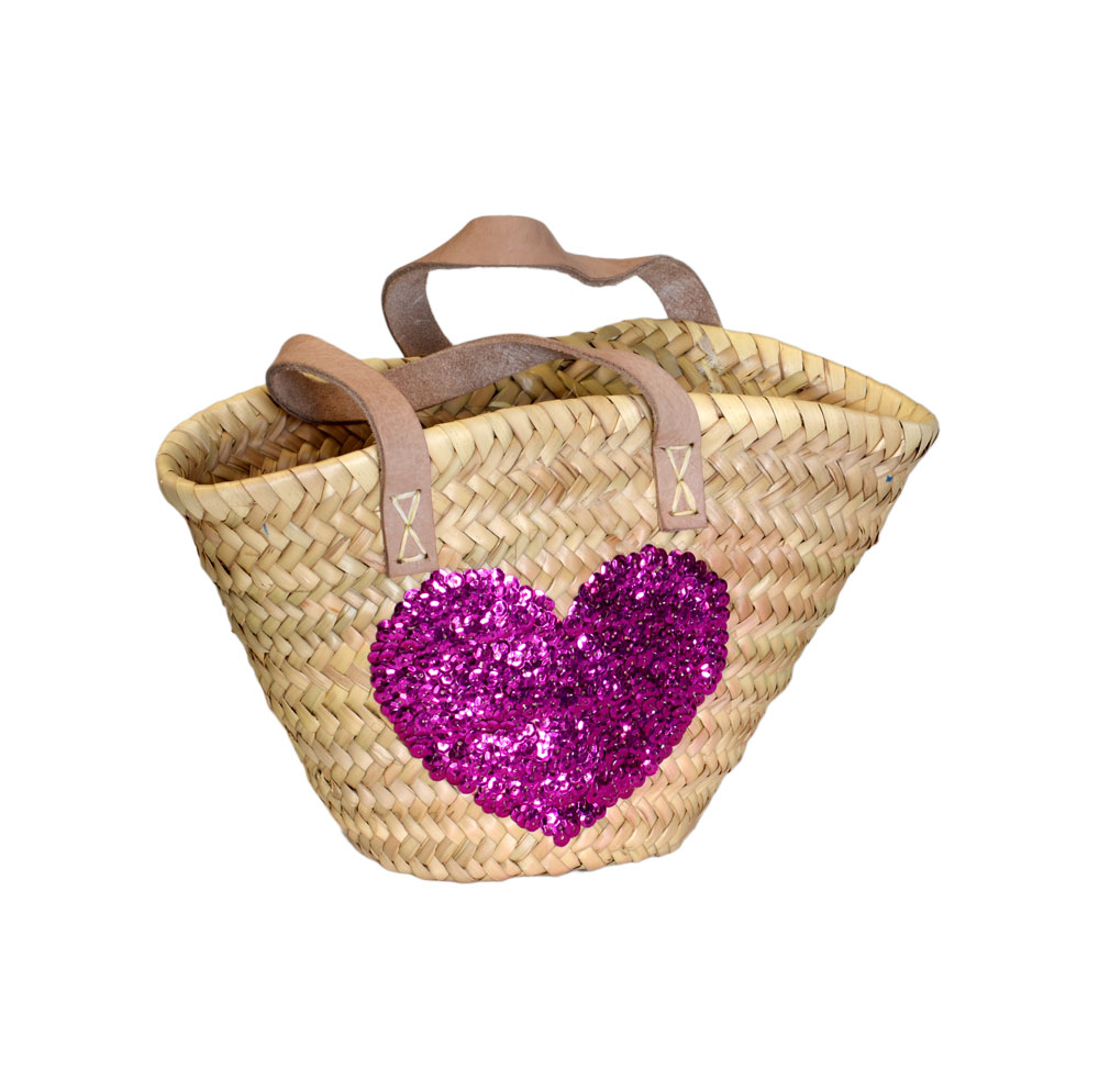 05/4410SH Childs Palm Shopper with Sequin Heart