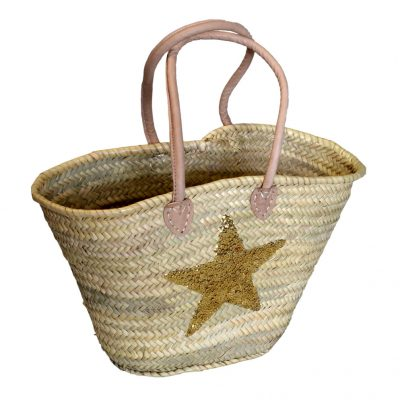 05/4640GS Palm Shopper Gold Sequin Star