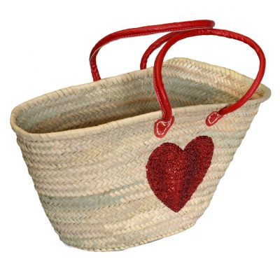 05/4640RH Palm Shopper Red Sequin Heart