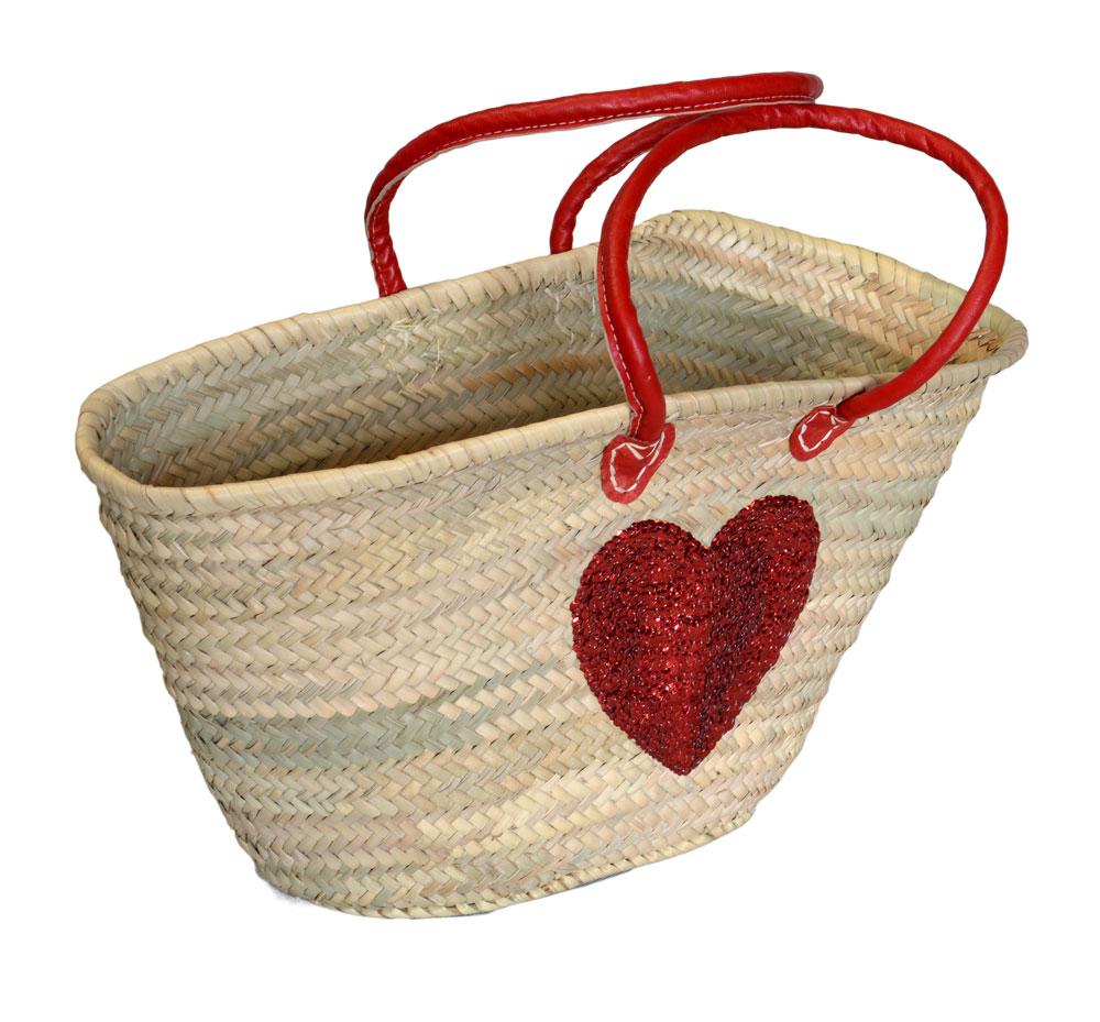 05/4640RH Palm Shopper Red Sequin Heart