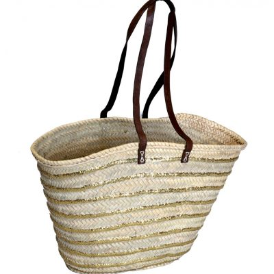 05/5180R Palm Shopper Gold Sequin Stripes