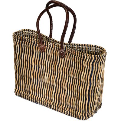 05/6111B 2-tone Oblong Blue Bulrush Shopper