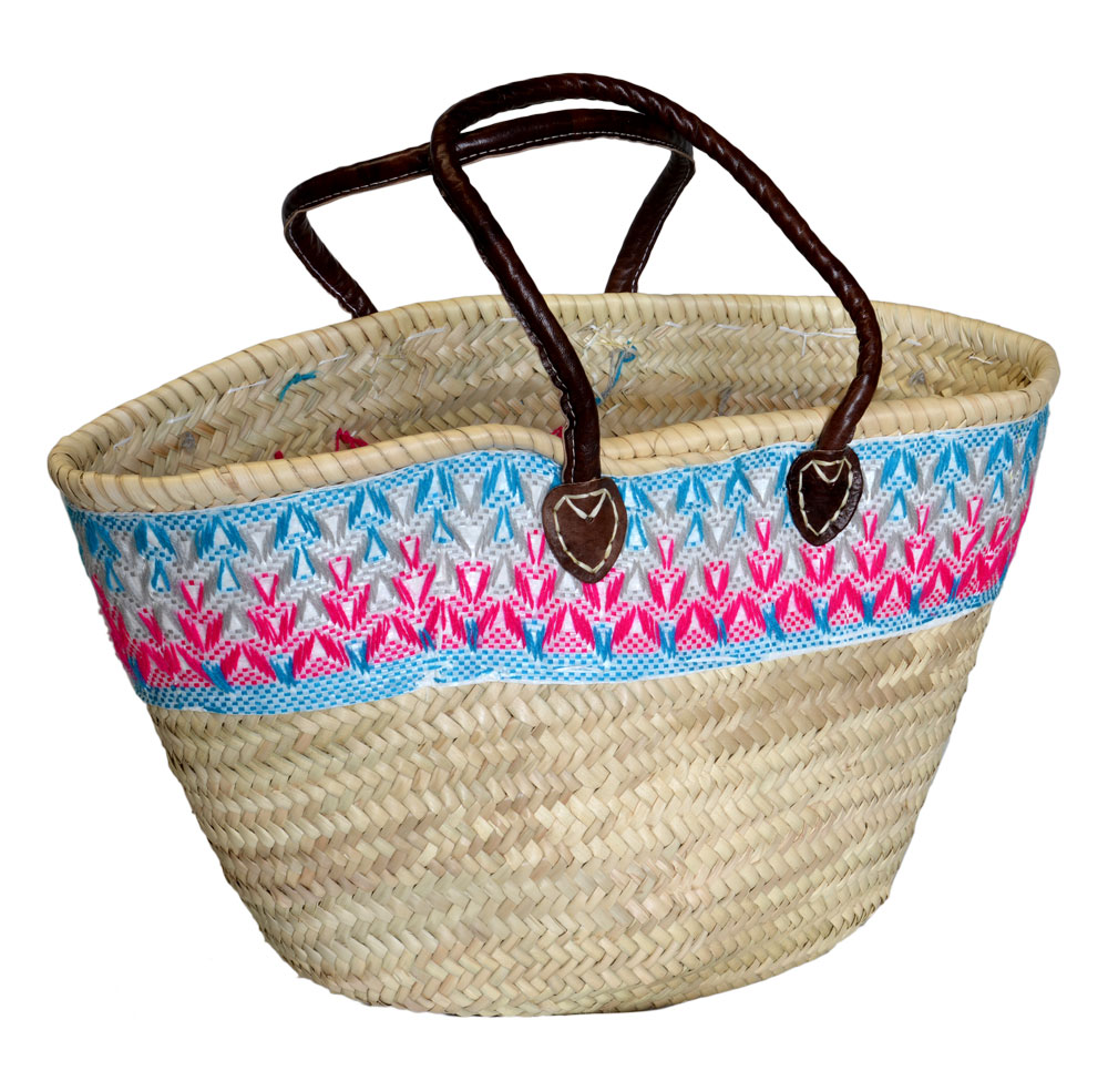05/9TGOP Palm Shopper with Pink Tapestry