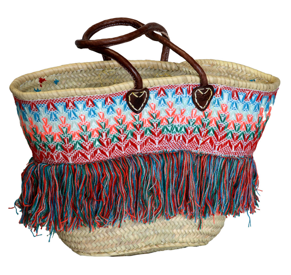 05/9TGOP Palm Shopper with Tapestry & Frills
