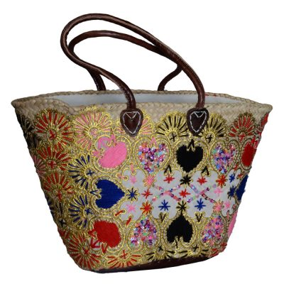 05/AB20 Embroidered Palm Shopper Lined