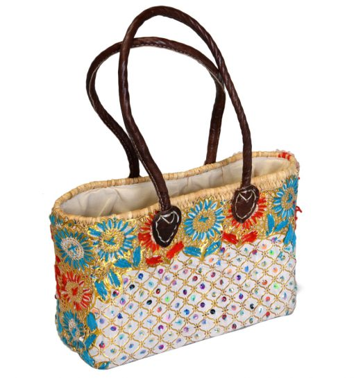 05/BER100 Embroidered Oblong Palm Shopper Lined