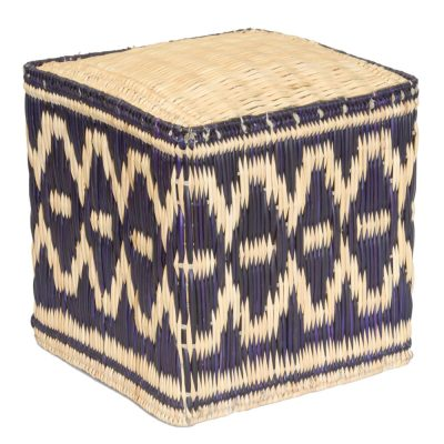 18/TB45BB Blue Palm Stool
