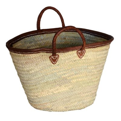05/4642 Leather Rim Palm Shopper
