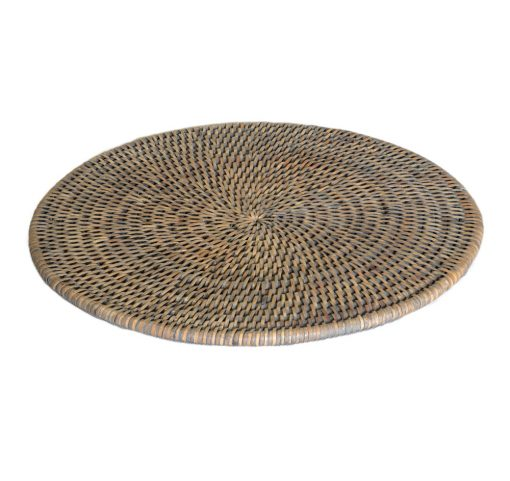 04/9003G Round Placemat Grey Finish