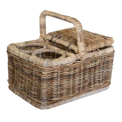 05/610G Grey Lidded Picnic Basket