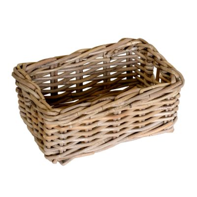 11/6022 Small Oblong Grey Storage Basket