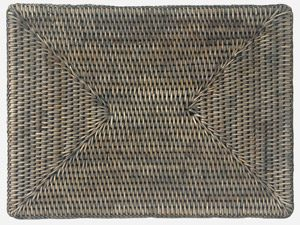 Oblong Rattan Grey Placemat