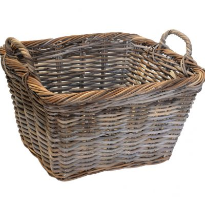 10/227 Oblong Grey Log Basket