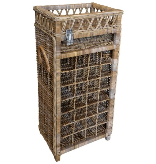 11/8031 Tall 28 Bottle Rattan Wine Rack