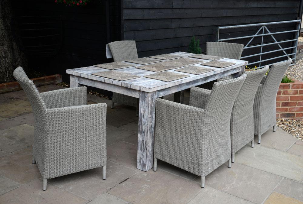 19/8032 Large Mango Wood Dining Table