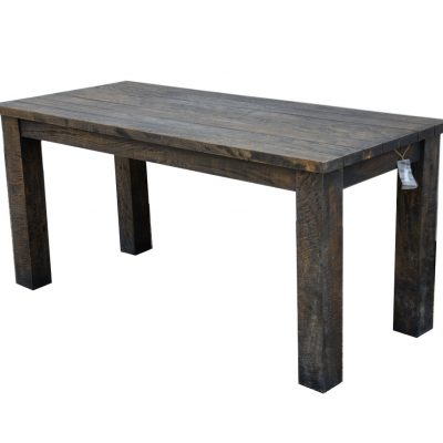 19/8035 Slim Mango Wood Dining Table Rustic Dark Brown Finish