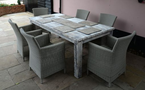 19/8032 Large Dining Table and-16-7050-Sardinia all weather chairs