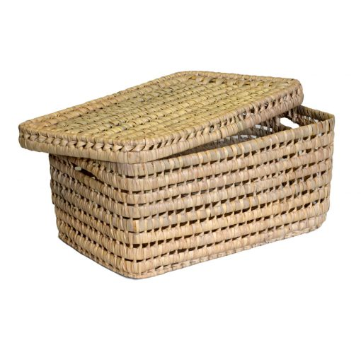 03/VNT4025 Lidded Palm Storage Box Open Lid