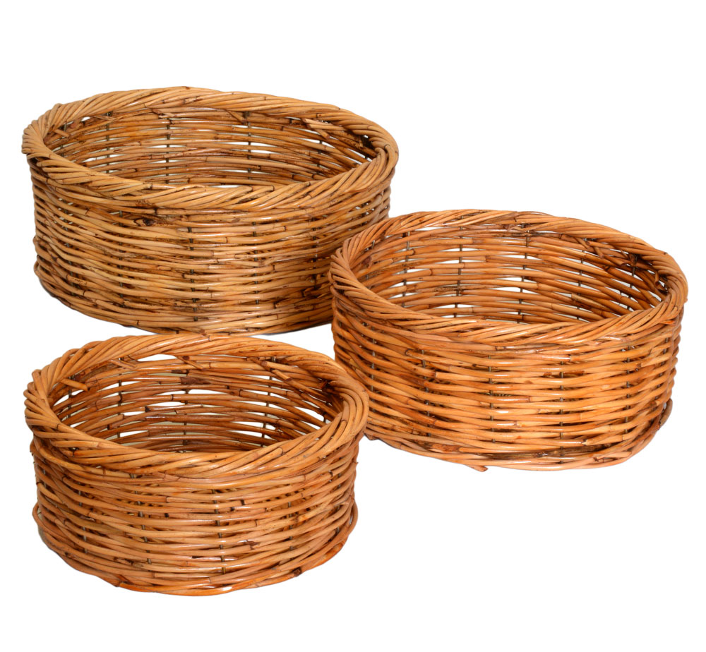03/105 Set of 3 Round Fruit Trays