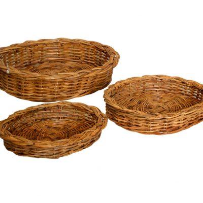 03/121 Set of 3 Oval Fruit Trays