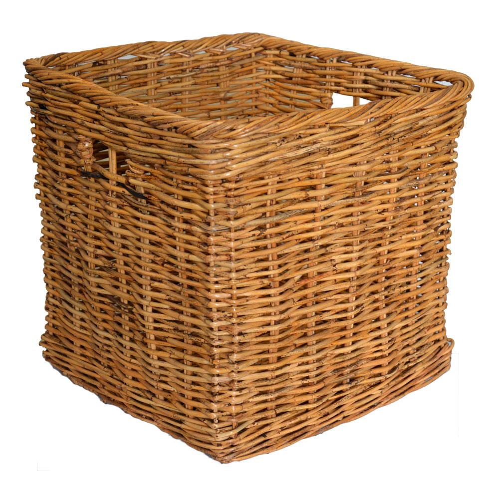 large square log basket roudham trading. Black Bedroom Furniture Sets. Home Design Ideas