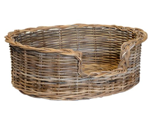 09/104GM Medium Grey Oval Dog Basket