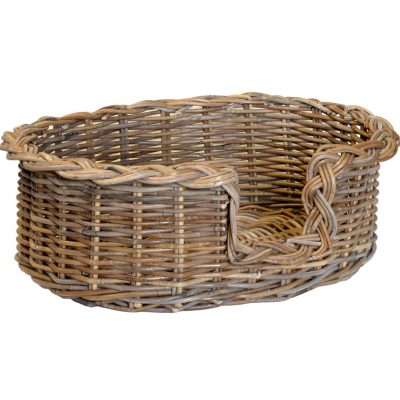 09/104GS Small Grey Oval Dog Basket