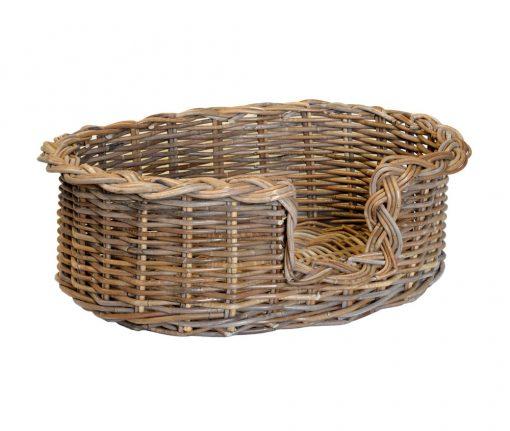 09/104GS Small Grey Oval Dog Basket