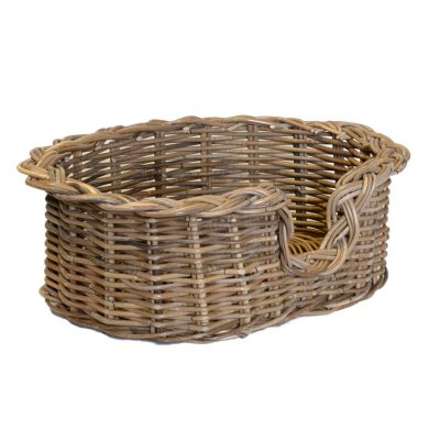 09/104GXS Extra Small Grey Oval Dog Basket