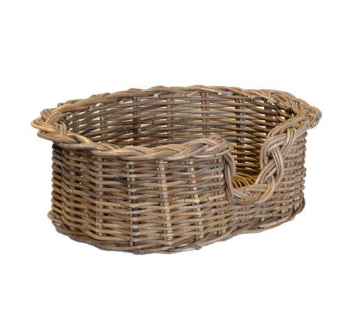 09/104GXS Extra Small Grey Oval Dog Basket