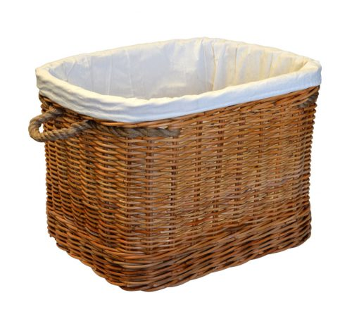 10/7523S Small Oblong Log Basket with Wheels