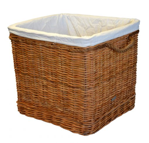 10/774L Large Square Log Basket