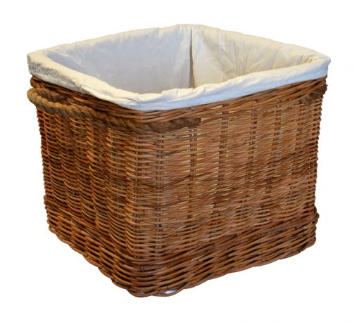 10/774S Small Square Log Basket