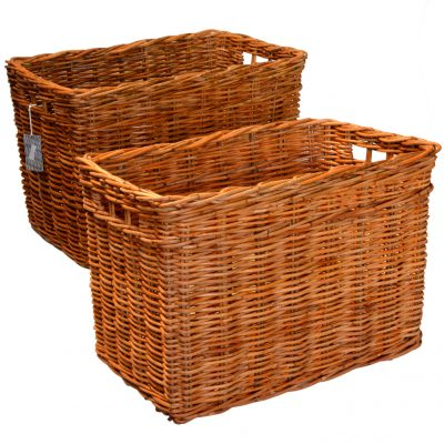 10/9972 Set 2 Narrow Oblong Log Baskets