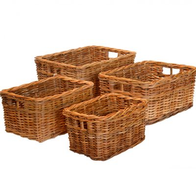 11/9132 Set 4 Oblong Storage Baskets